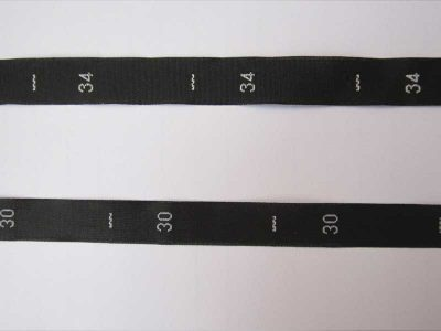 Woven Size Labels / Numerals