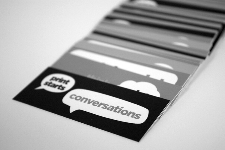 Print starts with Conversation