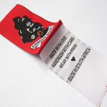 Woven Clothing Labels (Min 500 labels)