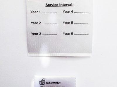 LOW MINIMUM Printed Satin labels (100 units)