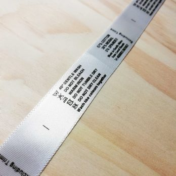 Printed Satin Labels on roll (Min 100 labels)